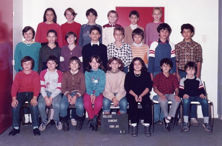 Photo de classe college domerat 84 85 6e1 de 1984 for College domerat