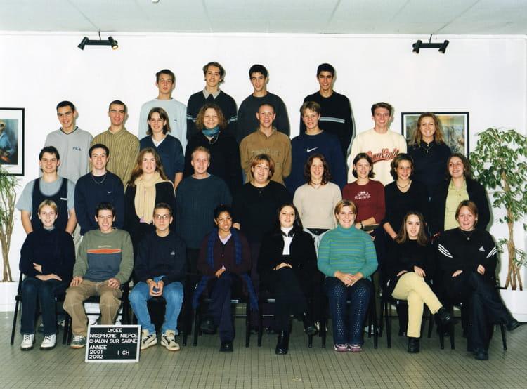 photo de classe 1 re chimie de 2001 lyc e nicephore niepce copains d 39 avant. Black Bedroom Furniture Sets. Home Design Ideas