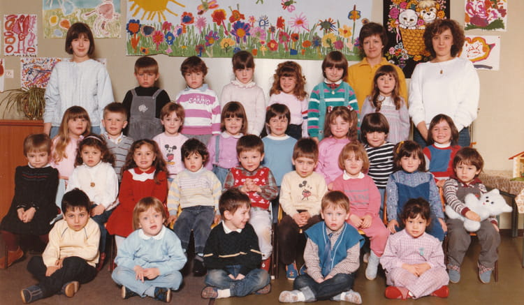 photo de classe petits de 1986 ecole maternelle bois richard copains d 39 avant. Black Bedroom Furniture Sets. Home Design Ideas