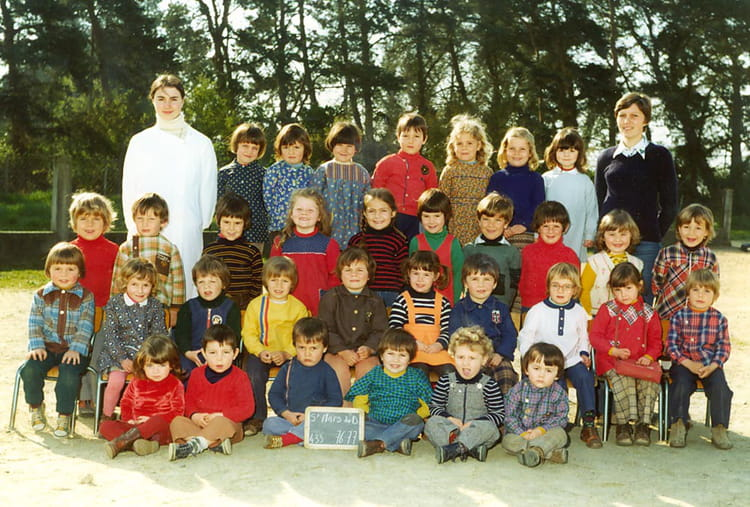 photo de classe maternelle 1976 77 de 1977 ecole saint martin saint mars du desert copains. Black Bedroom Furniture Sets. Home Design Ideas
