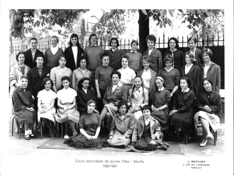 photo de classe 1959 1960 copier de 1960, cours secondaire de ... - Cours De Cuisine Neuilly Sur Seine