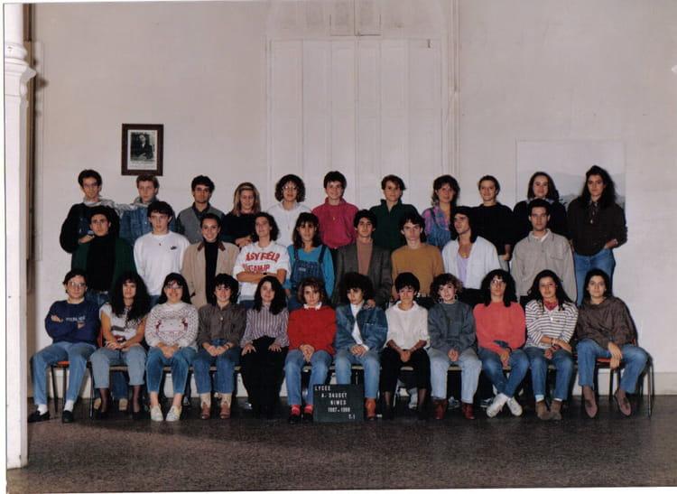 Photo de classe t1 a1 de 1987 lyc e alphonse daudet for Lycee alphonse daudet