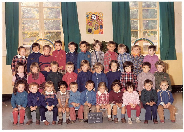 photo de classe maternelle de 1973 ecole thevenon la tour du pin copains d 39 avant. Black Bedroom Furniture Sets. Home Design Ideas