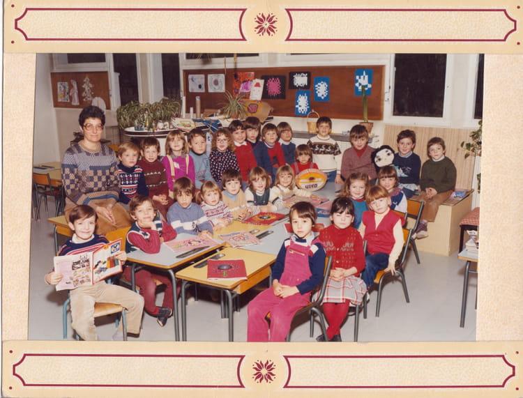photo de classe grande section de maternelle de 1982 ecole jules pinsard creches sur saone. Black Bedroom Furniture Sets. Home Design Ideas