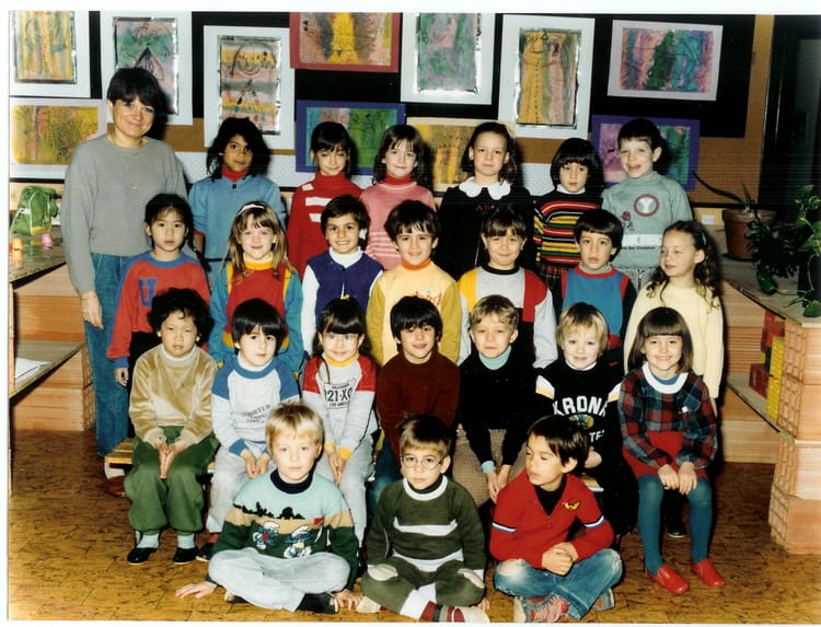 photo de classe maternelle yann la queue en brie de 1985 ecole maternelle gournay copains. Black Bedroom Furniture Sets. Home Design Ideas