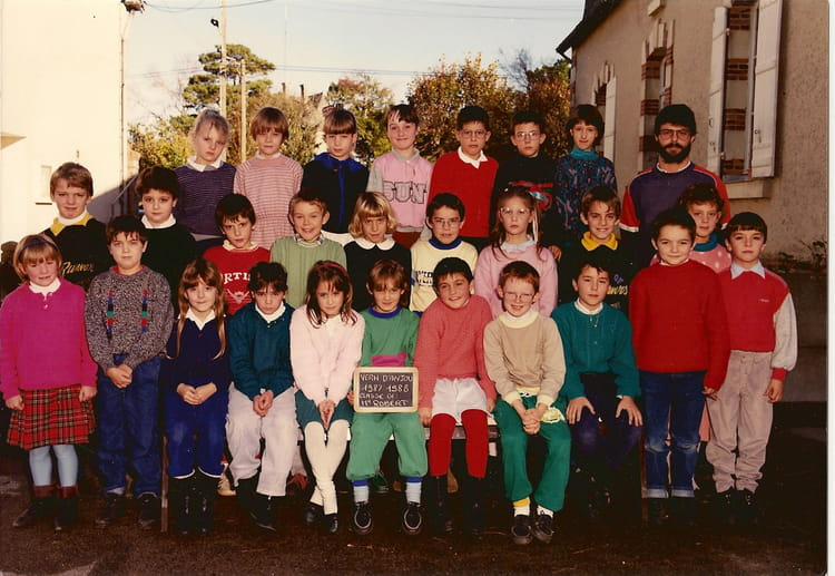 photo de classe ce2 de 1987 ecole herve bazin vern d anjou copains d 39 avant. Black Bedroom Furniture Sets. Home Design Ideas