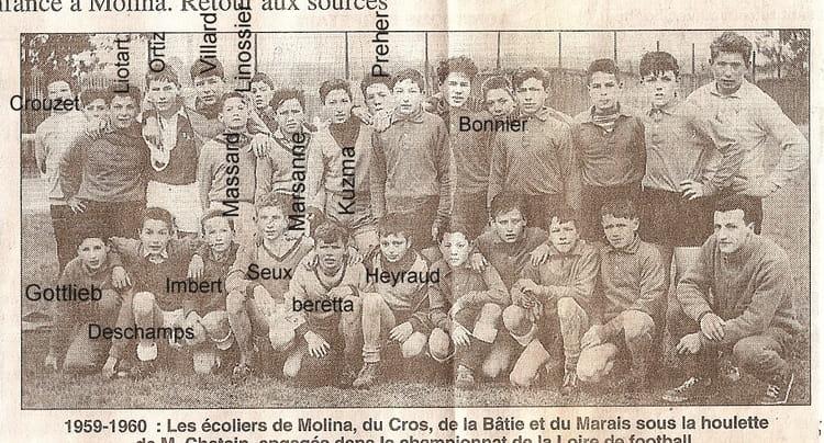 Coloriage Foot St Etienne.Photo De Classe Equipe De Foot Du Marais Championne Usep De 1960 Ex