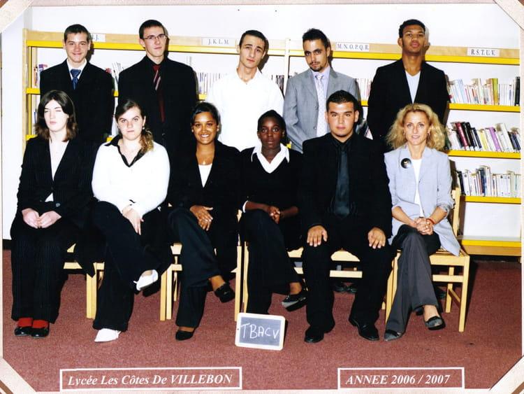 Cote De Villebon photo de classe t bac v de 2007, lycées les cotes de villebon