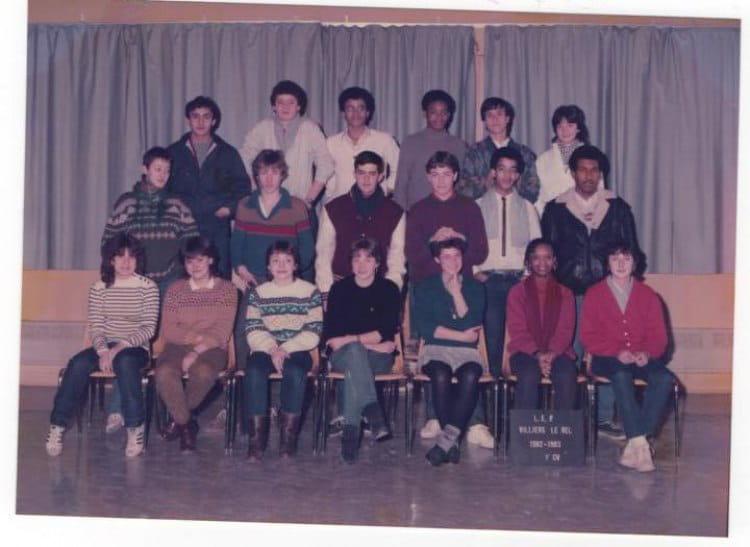 photo de classe 1 cv vente de 1983  lyc u00e9e professionnel