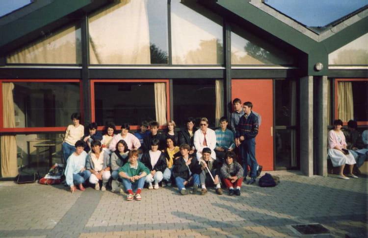 photo de classe 3e     de 1985  coll u00e8ge le penker