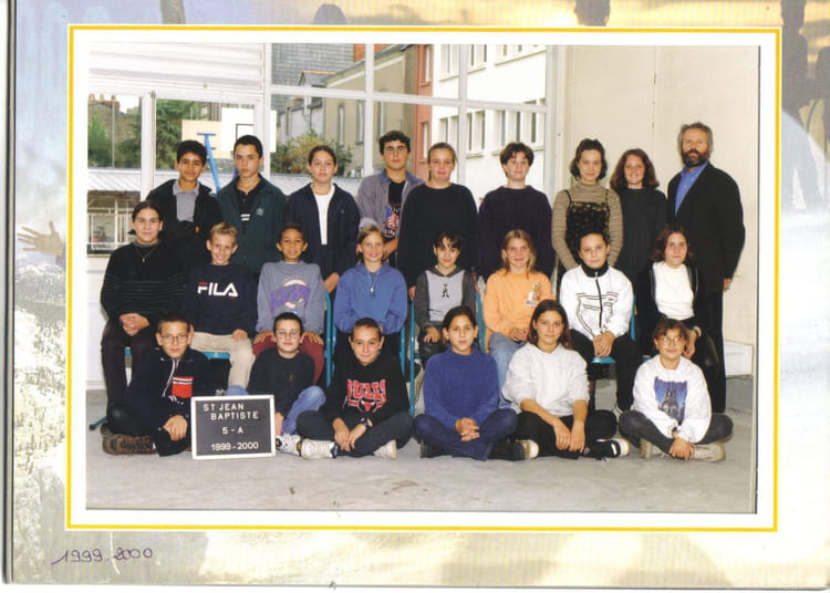 photo de classe 5e de 2000 coll 232 ge jean baptiste de la salle copains d avant