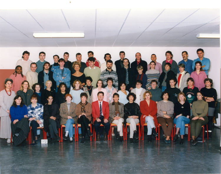 photo de classe les profs de descartes  blanc