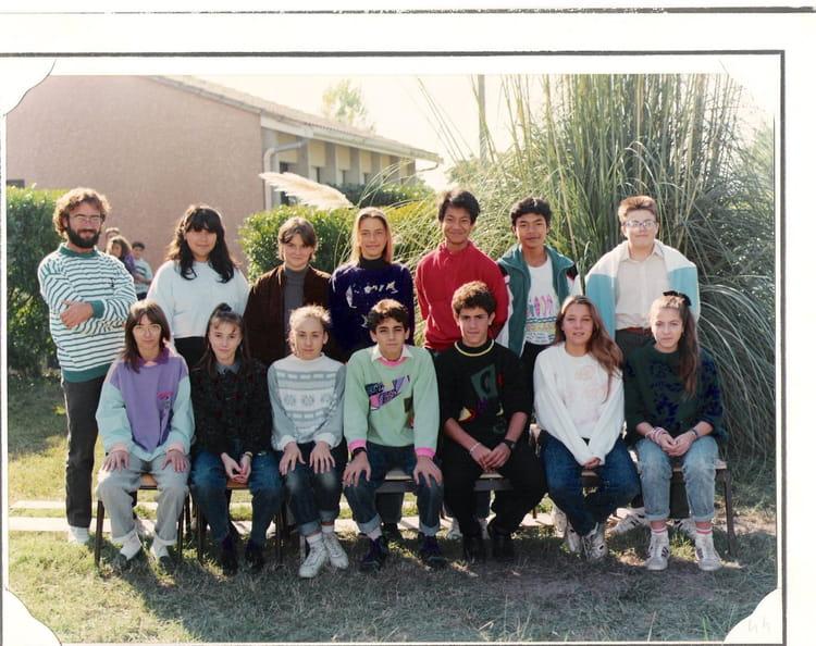 photo de classe 4 176 1 1989 1990 de 1989 coll 232 ge porte du m 233 doc copains d avant