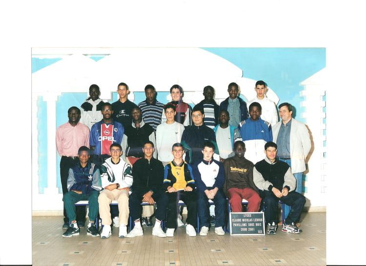 Photo de classe 1c2 de 2001, Lycée Professionnel Claude  ~ Lycee Claude Nicolas Ledoux Pavillon Sous Bois