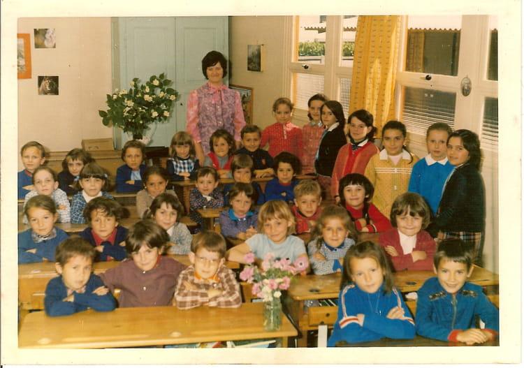 Photo de classe ce1 ce2 craponne avec mme voute de 1971 - Lycee craponne salon ...