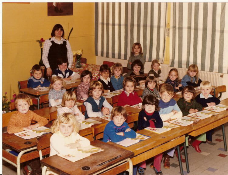 photo de classe cp de 1978 ecole vancauwenberghe saint. Black Bedroom Furniture Sets. Home Design Ideas