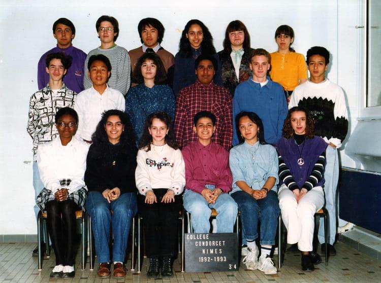 photo de classe 3eme4 de 1992 coll ge condorcet copains d 39 avant. Black Bedroom Furniture Sets. Home Design Ideas