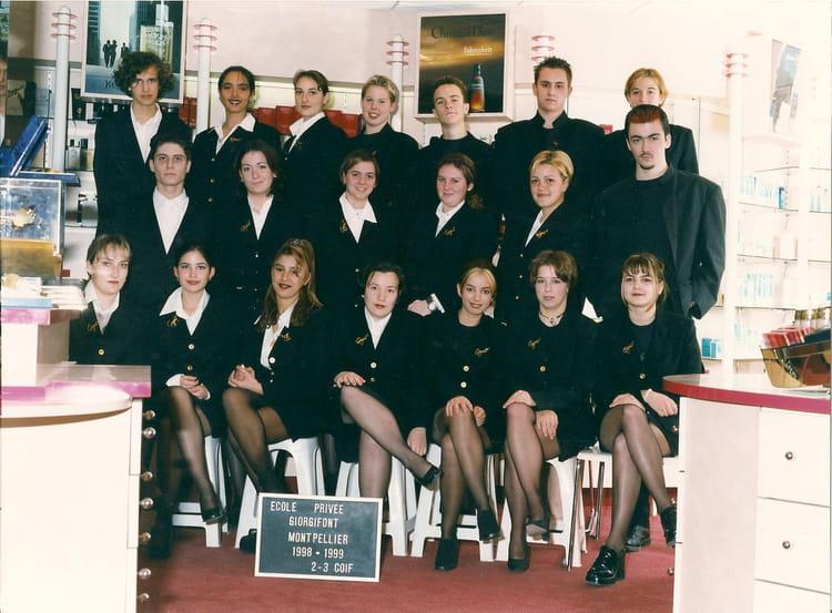 Photo de classe 2eme et 3eme année Coiffure 1998-1999 de 1998 ...