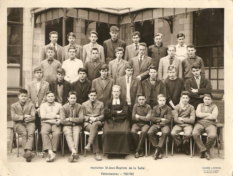 photo de classe institution jean baptiste valenciennes de 1961 coll 232 ge jean