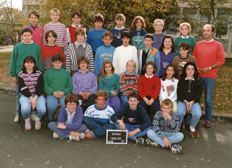 photo de classe 233 e 1989 90 5 232 me e de 1989 coll 232 ge porte d anjou copains d avant