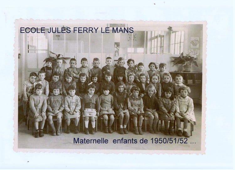 photo de classe maternelle jules ferry le mans de 1955 ecole jules ferry copains d 39 avant. Black Bedroom Furniture Sets. Home Design Ideas