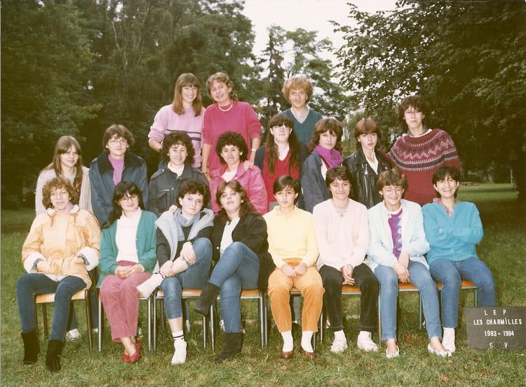 photo de classe cv de 1981  lyc u00e9e professionnel les charmilles