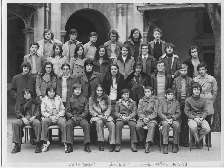 Photo de classe 3 me 1 1972 73 de 1972 lyc e alphonse for Lycee alphonse daudet