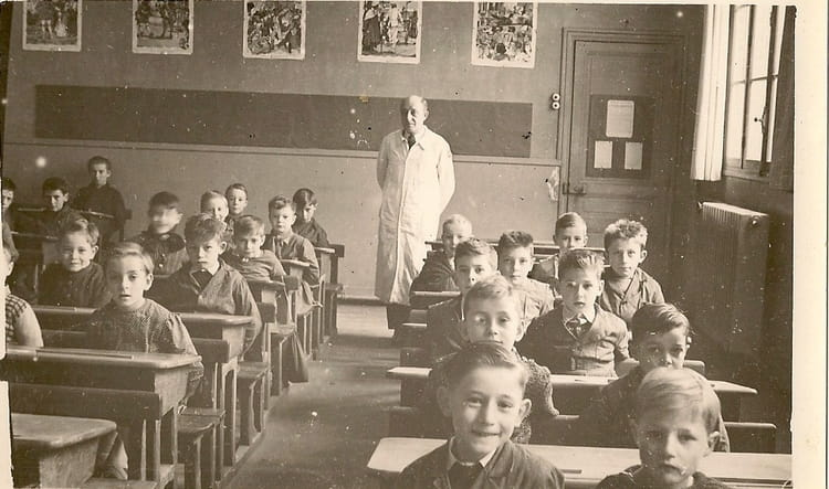 photo de classe ce1 de 1952 ecole les ombrages brunoy copains d 39 avant. Black Bedroom Furniture Sets. Home Design Ideas