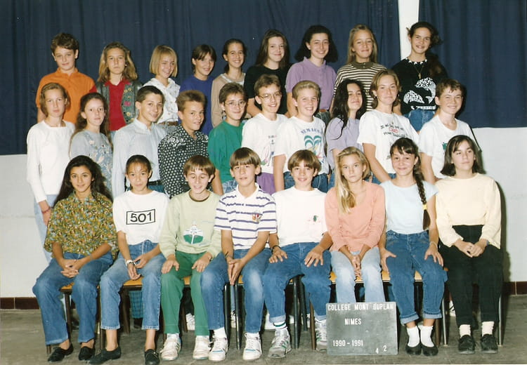 photo de classe 4 232 me2 de 1990 coll 232 ge mont duplan