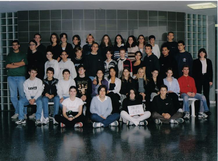 photo de classe 1sa de 1999 lyc 233 e jehan de chelles copains d avant