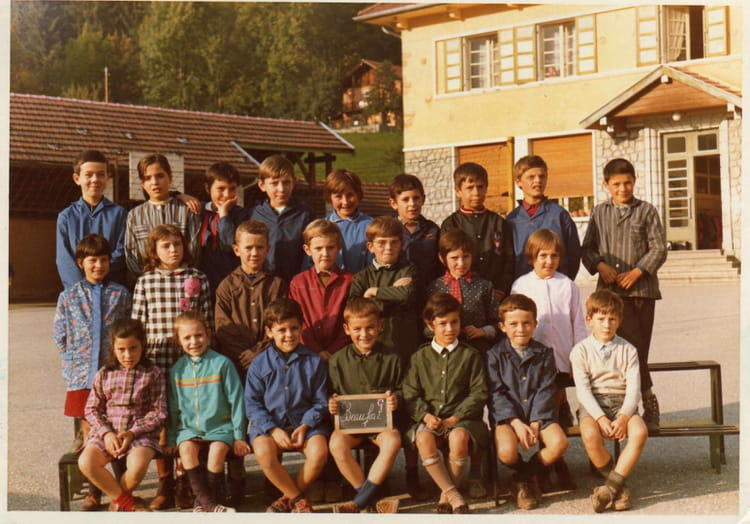 Photo de classe c m1 de 1970 ecole du capitaine bulle - Beaufort sur doron office du tourisme ...