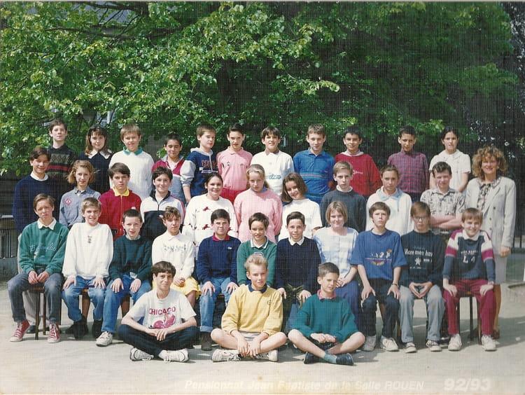 photo de classe 6e a de 1993 coll 232 ge jean baptiste de la salle copains d avant