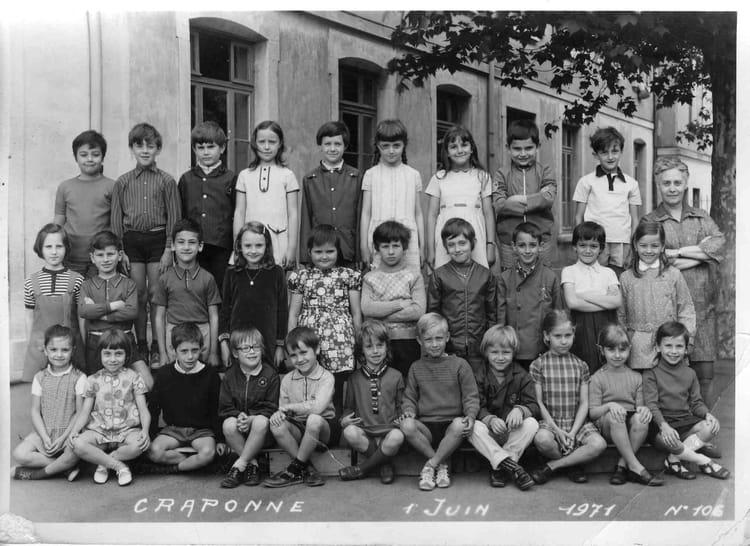 Photo de classe ce 2 1971 de 1971 ecole du centre for Lycee craponne salon