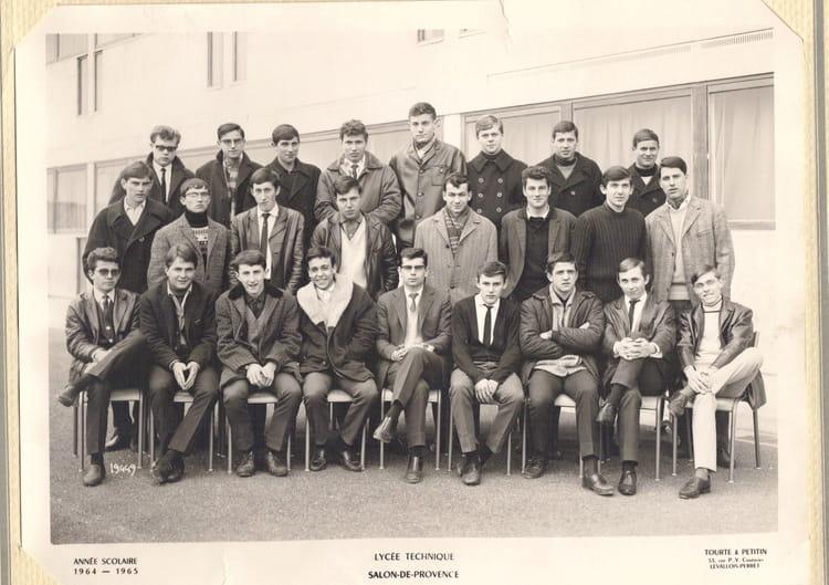 Photo de classe 1 re indutrielle de 1964 adam de craponne - Lycee craponne salon ...