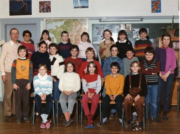 1984 - cm2 avec mr bastien - ecole du docteur macquin (chatel sur