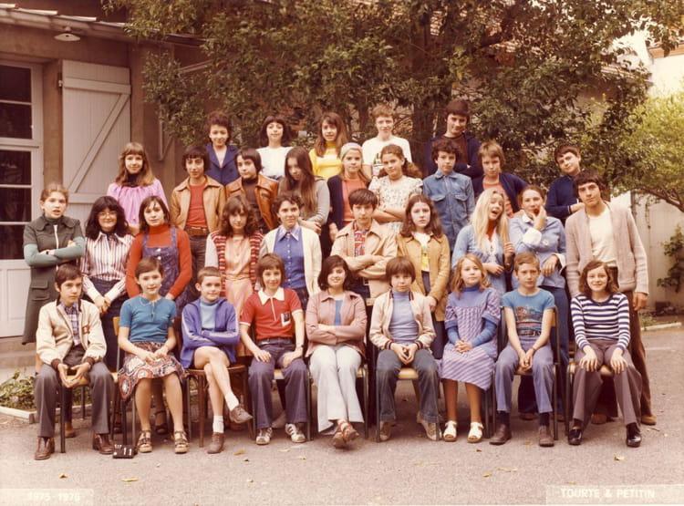 photo de classe 5ea de 1976 coll 232 ge les chalets copains d avant