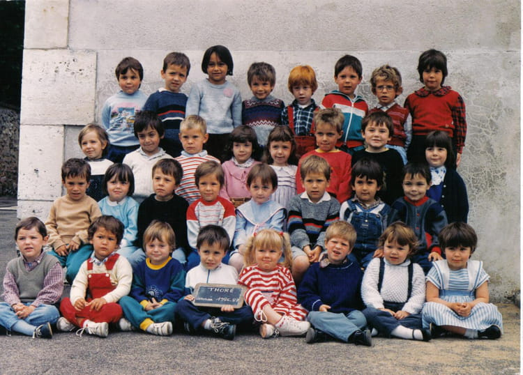 photo de classe classe maternelle de 1987 ecole haut bourg thore la rochette copains d 39 avant. Black Bedroom Furniture Sets. Home Design Ideas