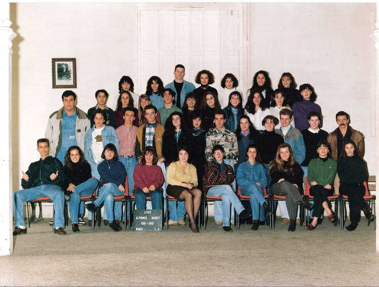 Photo de classe terminale a2 de 1991 lyc e alphonse for Lycee alphonse daudet