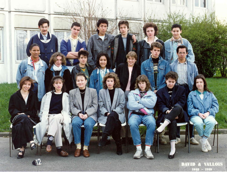 photo de classe asai de 1988 les c te de villebon copains d 39 avant. Black Bedroom Furniture Sets. Home Design Ideas