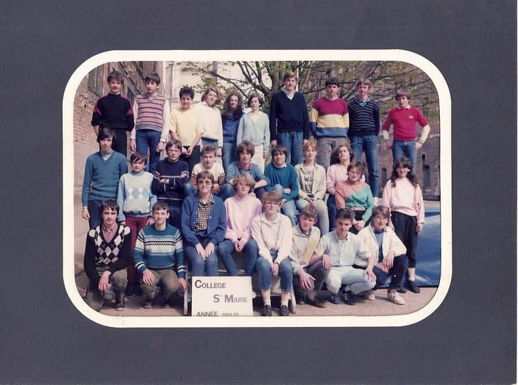 Photo de classe 3e c de 1984 coll ge sainte marie - Art cuisine longuenesse ...