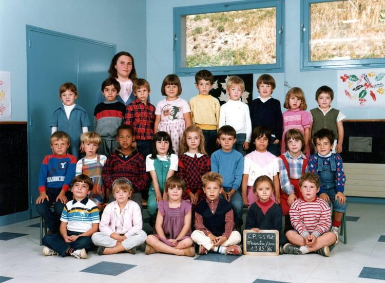 photo de classe cp grande section maternelle de 1985 ecole beau soleil mennetou sur cher. Black Bedroom Furniture Sets. Home Design Ideas