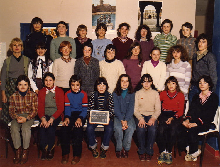 Photo de classe 5 me f de 1980 coll ge anne de bretagne for Garage st herblain bourg