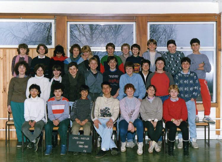Photo de classe 4eme3 de 1986, Coll u00e8ge Alfred Kastler   Copains d u0026#39;avant
