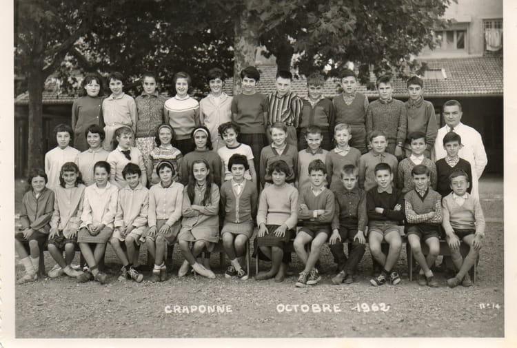 Photo de classe 6 me craponne de 1962 ecole du centre for Lycee craponne salon