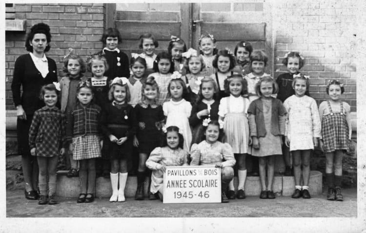 Photo de classe COURS PREPARATOIRE de 1945, ARISTIDE  ~ Ecole Monceau Pavillons Sous Bois