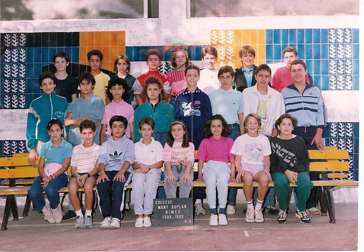 photo de classe 5e3 mont duplan de 1988 coll 232 ge mont