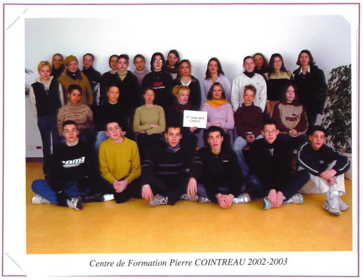Photo de classe 1er bepvam 2002 2003 de 2002 cfa de la - Chambre de commerce et d industrie angers ...