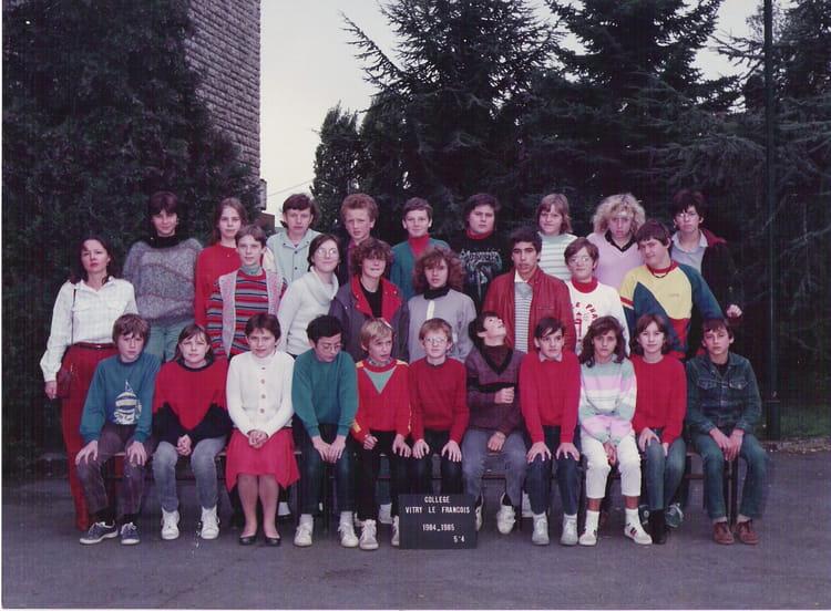 Photo de classe 5 me 4 de 1984 coll ge vieux port - College vieux port vitry le francois ...