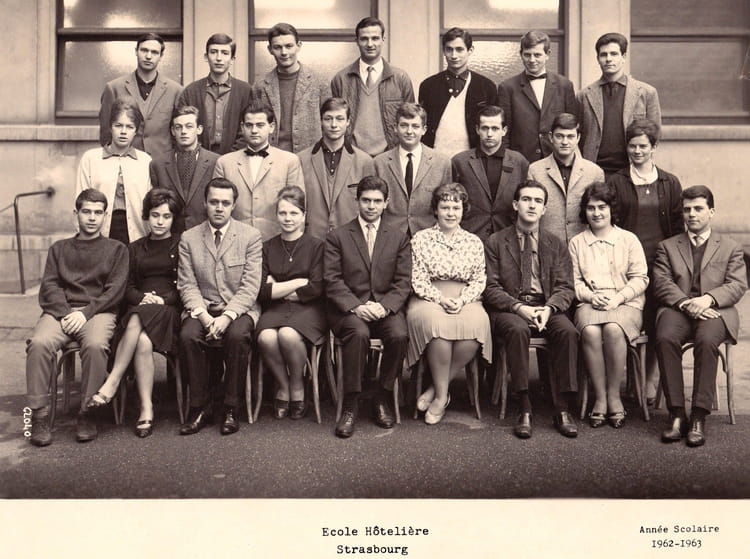 photo de classe strasbourg spé 62-63 de 1956, lycee hotelier