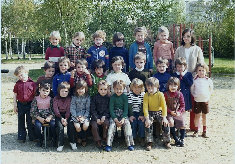 photo de classe grande section cole des sables poitiers de 1977 ecole des sables copains d. Black Bedroom Furniture Sets. Home Design Ideas